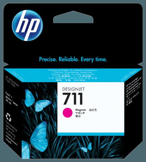 Cartucho de Tinta HP 711 Magenta DesignJet Original