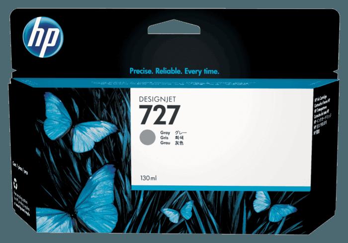 Cartucho de Tinta HP 727 Cinza DesignJet Original