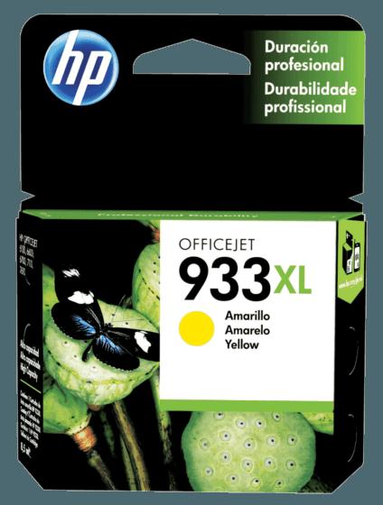 Cartucho de Tinta HP 933XL Amarelo de Alto Rendimento Original