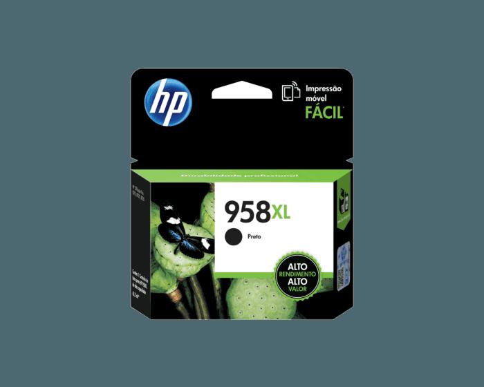 Cartucho de Tinta HP 958XL Preto de Alto Rendimento Original