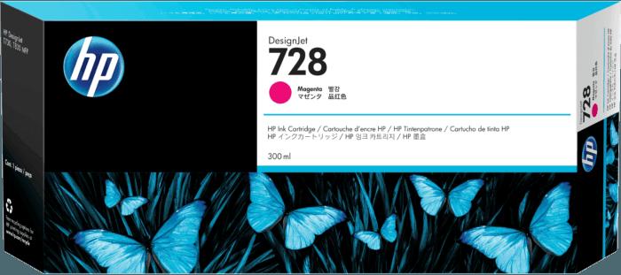 Cartucho de Tinta HP 728 Magenta DesignJet Original