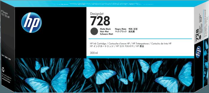 Cartucho de Tinta HP 728 Preto Fosco DesignJet Original