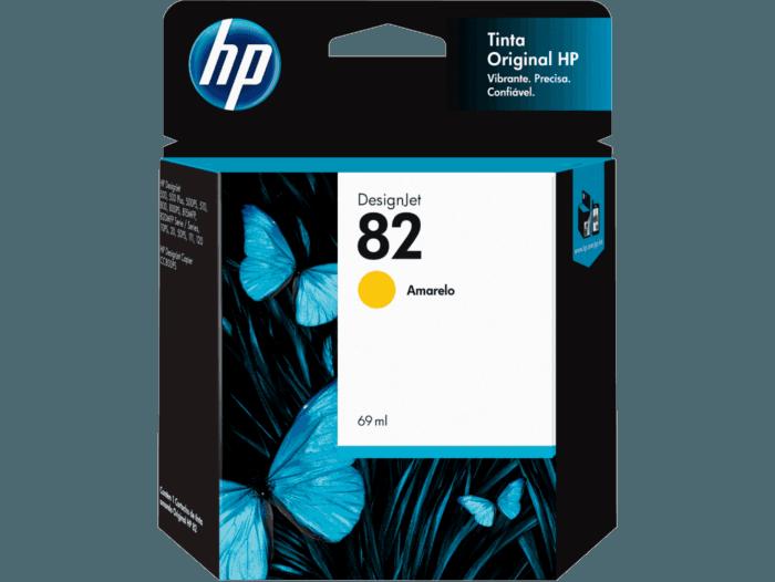 Cartucho de Tinta HP 82 Amarelo DesignJet 69 ml