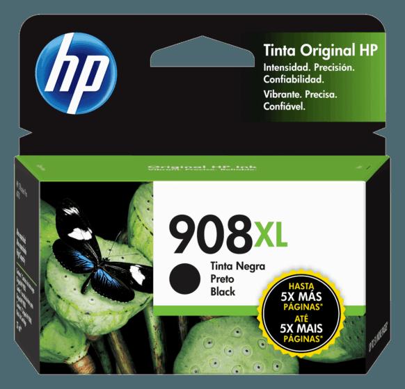 Cartucho de Tinta HP 908XL Preto de Alto Rendimento Original