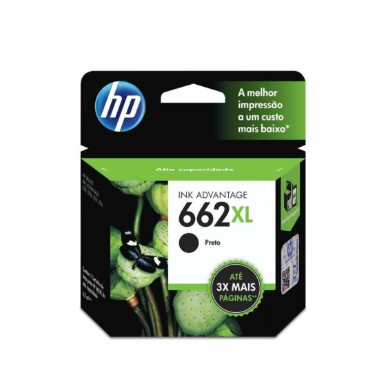 Cartucho de Tinta HP 662XL Preto de Alto Rendimento Advantage Original
