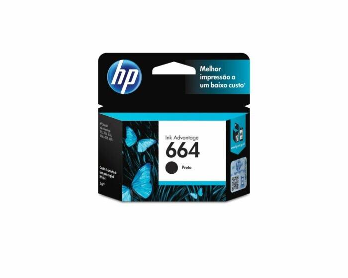 Cartucho de Tinta HP 664 Preto Advantage Original