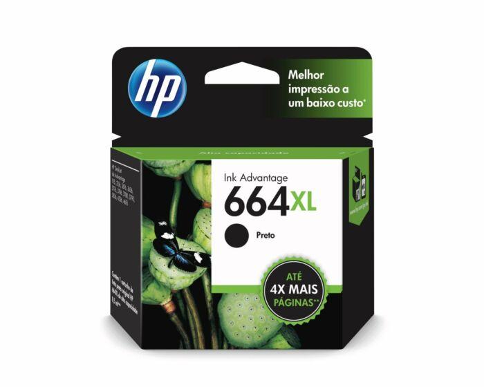 Cartucho de Tinta HP 664XL Preto de Alto Rendimento Advantage Original