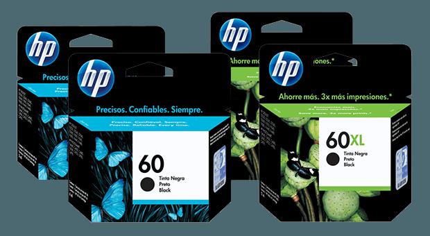 Familia de Cartuchos de Tinta HP 60 y HP 60XL