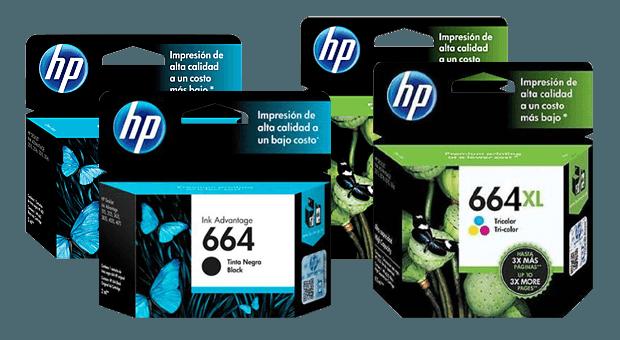 Familia de Cartuchos de Tinta HP 664 y HP 664XL